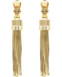 Lanvin Clip-On Tassel Earrings - Lyst