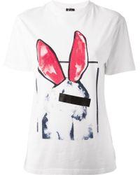 McQ by Alexander McQueen 'Liesa Bunny' Boyfriend T-Shirt - Lyst