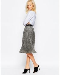 Greylin Sonia Metallic Midi Skirt