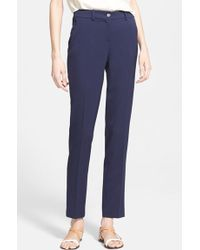 Michael Kors 'Samantha' Skinny Wool Gabardine Pants - Lyst