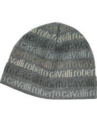 Roberto Cavalli - Signature Print Wool Blend Men'S Hat - Lyst