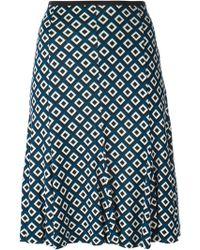 Diane von Furstenberg Geometric Print Skirt - Lyst