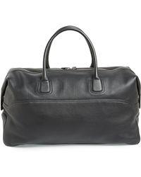 Canali Calfskin Leather Duffel Bag - Lyst