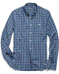 Todd Snyder | Gable Shirt In Cobalt Check | Lyst