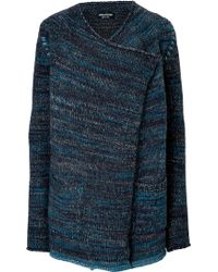 Zadig & Voltaire Mixed Knit Cardigan - Lyst