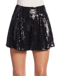 Diane von Furstenberg | Aleah Sequined Silk Shorts | Lyst