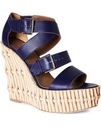 Hermès HermãˆS Platform Wedge Sandals - Lyst