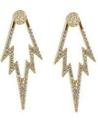 CC SKYE - The Crystal Pop Double Sided Earring - Lyst