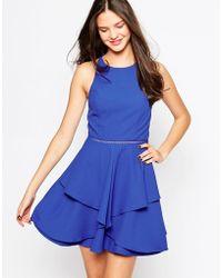 Adelyn Rae Layered Skater Dress - Blue