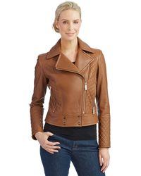 Calvin Klein Moto Jacket - Lyst