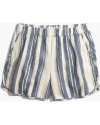 Madewell Pull-on Shorts In Indigo Stripe - Multicolour