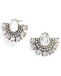 BaubleBar Women'S 'Parasol' Statement Stud Earrings - Clear/Antique Gold - Lyst