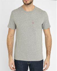 Levi's | Mottled-grey Pocket T-shirt | Lyst
