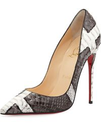 Christian Louboutin So Kate Python Red Sole Pump - Lyst