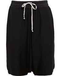 Rick Owens Drop Crotch Bermuda Shorts - Lyst
