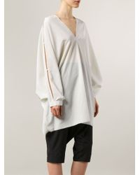 Lost & Found - Sleeve Cut-out Detail Tunic - Lyst