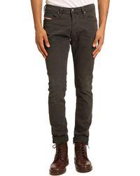 Diesel Tepphar Anthracite Grey Jeans - Lyst