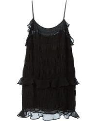 Vanessa Bruno Athé Ruffled Spaghetti Strap Dress - Lyst