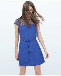 Zara Combined Dress - Lyst