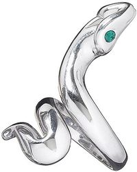 Jan Leslie - Snake Ring With Green Crystal Eyes - Lyst