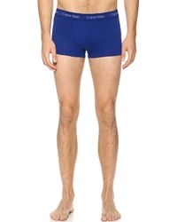 Calvin Klein 3 Pack Low Rise Trunks - Lyst