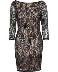 Topshop Scallop Lace Bodycon Dress - Lyst