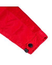 Paul Smith Men's Red Garment-dye Down-filled Fishtail Parka
