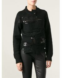 Junya Watanabe Ribbed Patchwork Pullover - Lyst