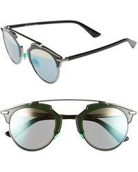 Dior Women'S 'So Real' 48Mm Sunglasses - Ruthenium/ Green/ Black - Lyst