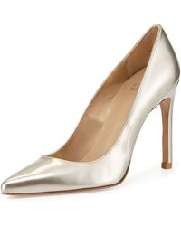 Stuart Weitzman Nouveau Metallic Leather Pump - Lyst