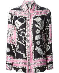 Moschino Cheap & Chic Bone Print Shirt - Lyst