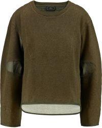 By Malene Birger Asilla Faille-paneled Cotton-terry Sweatshirt - Brown