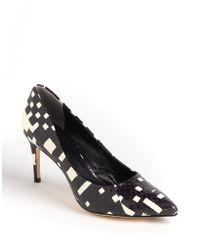 Rachel Roy Helene Leather Court Shoes - Black