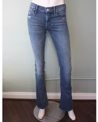 Mother   Runaway Mid Rise Flare Jean   Lyst
