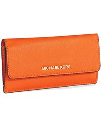 Michael by Michael Kors Jet Set Leather Travel Flat Wallet - Lyst