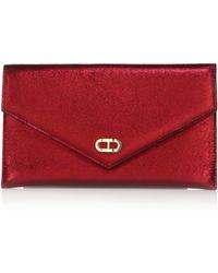 Dee Ocleppo - Editor's Metallic Leather Envelope Clutch - Lyst