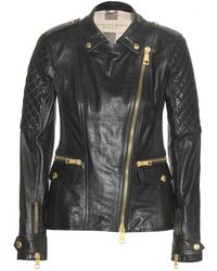 Burberry Brit - Quilted Leather Jacket - Lyst