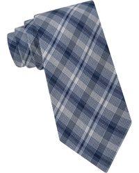 Calvin Klein Silk-Blend Plaid Tie - Lyst