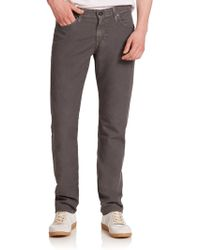 AG Adriano Goldschmied The Graduate Tailored-Fit Linen-Blend Jeans gray - Lyst