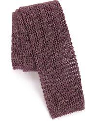Maker & Company Knit Cotton Tie - Purple