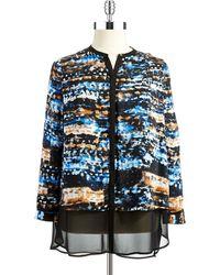 DKNY Plus Patterned Blouse - Lyst
