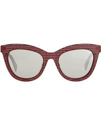 Marc By Marc Jacobs Laser-cut Cat-eye Sunglasses Red - Lyst
