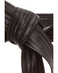 TOME Black Leather Karate Belt