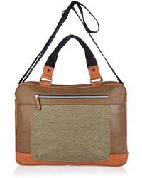 River Island Brown Canvas Work Bag