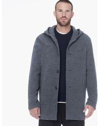 James Perse Brushed Terry Hooded Coat - Lyst