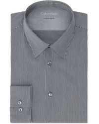 Calvin Klein X Extra-slim Onyx Stripe Dress Shirt - Lyst