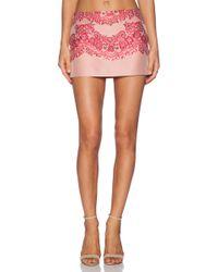 RED Valentino Lace Brocade Mini Skirt - Lyst