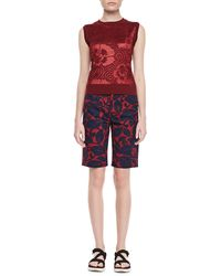 Marc Jacobs Floral Bermuda Shorts - Lyst