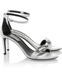 Balenciaga Buckle-Embellished Leather Sandals - Lyst