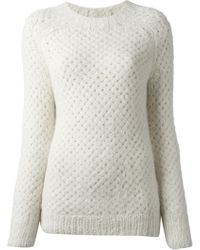 Vanessa Bruno Honeycomb Knit Sweater - Lyst